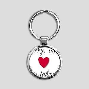 heart_taken Round Keychain