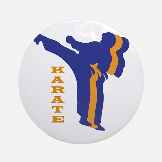 Karate 3D Silhouette Ornament (Round)