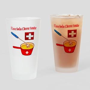 2-I love fondue Drinking Glass