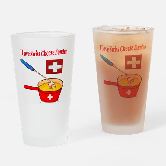 2-I love fondue Drinking Glass