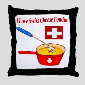 2-I love fondue Throw Pillow
