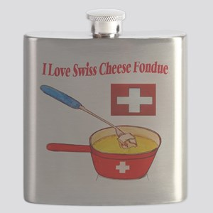 2-I love fondue Flask