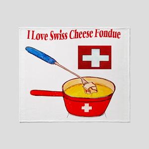 2-I love fondue Throw Blanket