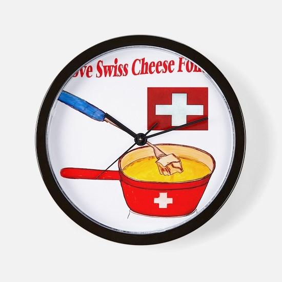 2-I love fondue Wall Clock