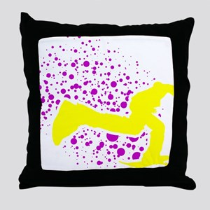 2-keeponpushing_dots_sintexto Throw Pillow