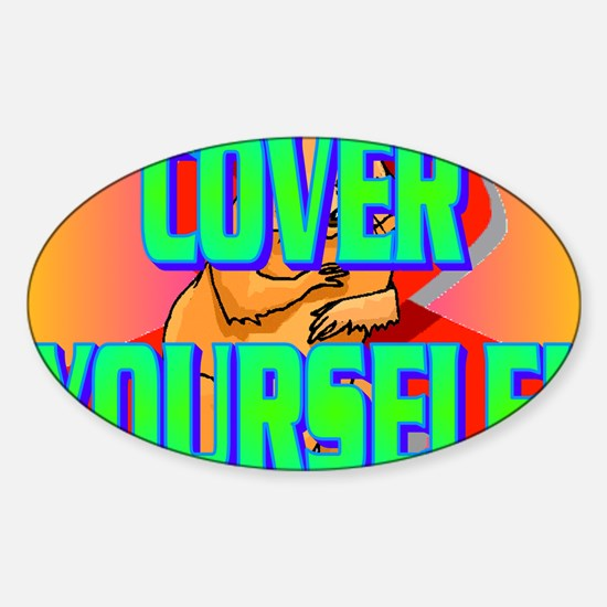 COVER YOURSELF(kids) Sticker (Oval)