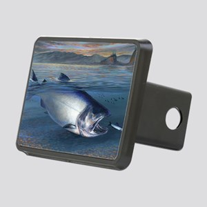 Early bite salmon Rectangular Hitch Cover