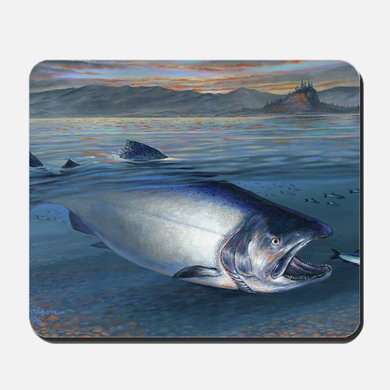 Early bite salmon Mousepad