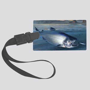 Early bite salmon Large Luggage Tag