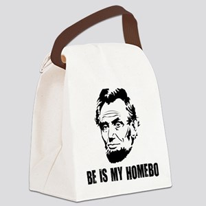 Abe-Homeboy-(white-shirt) Canvas Lunch Bag