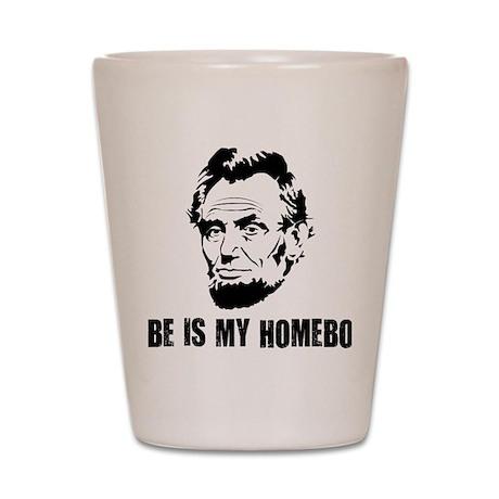 Abe-Homeboy-(white-shirt) Shot Glass
