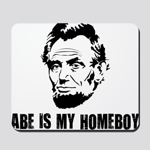 Abe-Homeboy-(white-shirt) Mousepad
