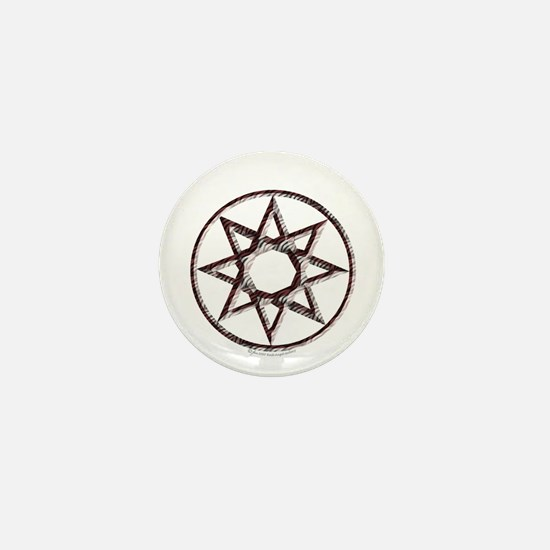 Octagram or 8 Pointed Star Mini Button