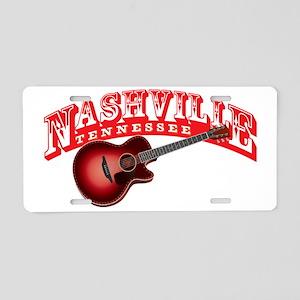 Nashville Guitar Aluminum License Plate