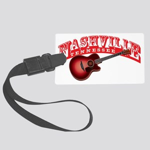 Nashville Guitar Large Luggage Tag