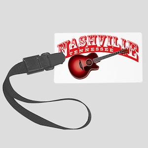 Nashville Guitar Large Luggage Tag