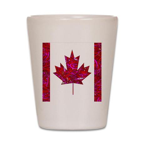 CANADA FLAG-QV Shot Glass