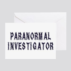 Paranormal Investigator Greeting Cards (Package of