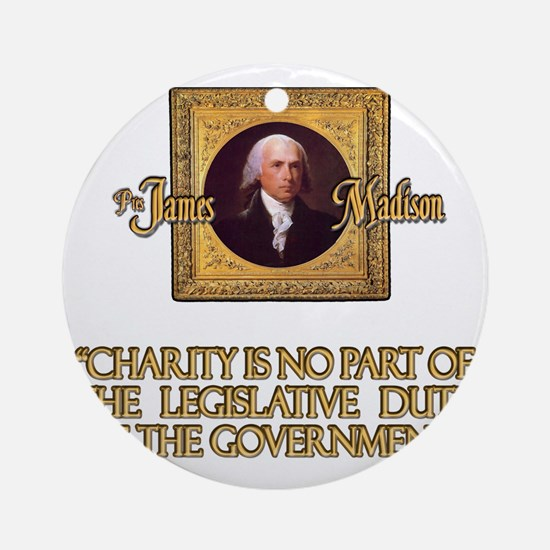 3-Madison on Charity Round Ornament