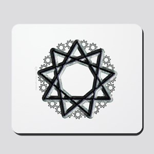 Nonagram or 9 Pointed Star  Mousepad