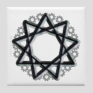 Nonagram or 9 Pointed Star  Tile Coaster