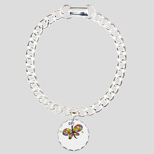 Butterfly -dk Charm Bracelet, One Charm