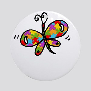 Butterfly -dk Round Ornament