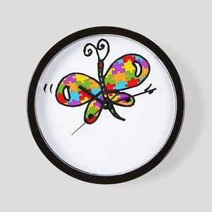 Butterfly -dk Wall Clock