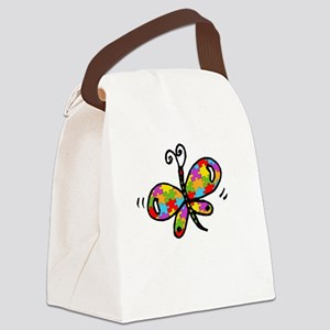 Butterfly -dk Canvas Lunch Bag