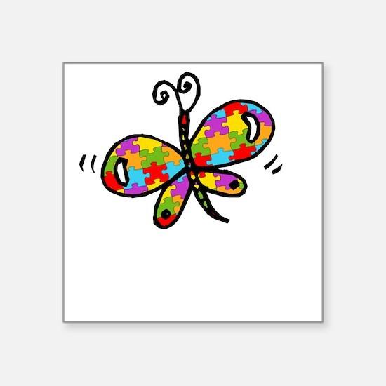 "Butterfly -dk Square Sticker 3"" x 3"""