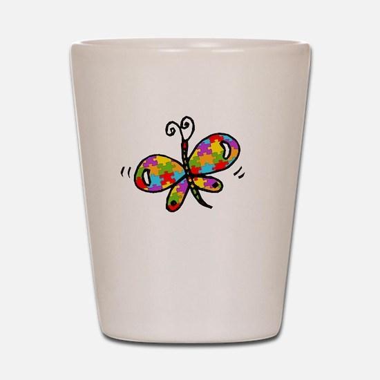 Butterfly -dk Shot Glass