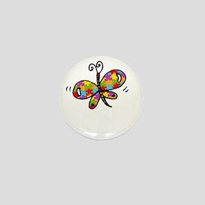 Butterfly -dk Mini Button