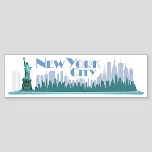 NYC Liberty Art Deco Bumper Sticker