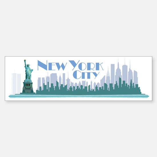 NYC Liberty Art Deco Bumper Bumper Bumper Sticker