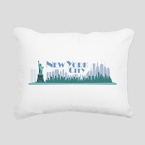 NYC Liberty Art Deco Rectangular Canvas Pillow