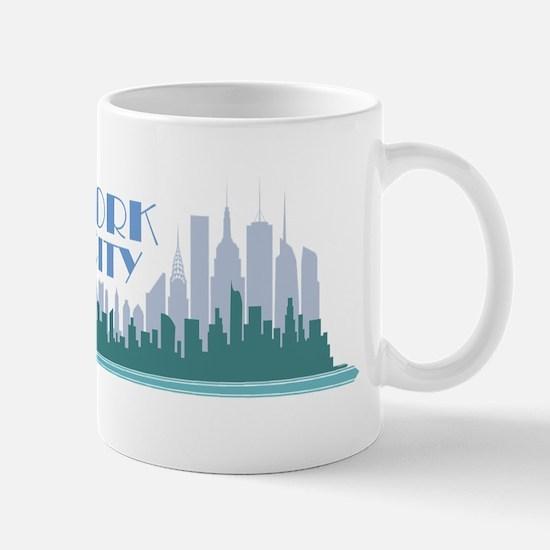 NYC Liberty Art Deco Mugs