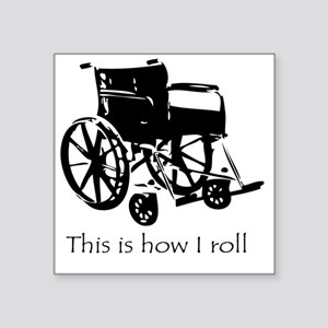 "Wheelchair Square Sticker 3"" x 3"""