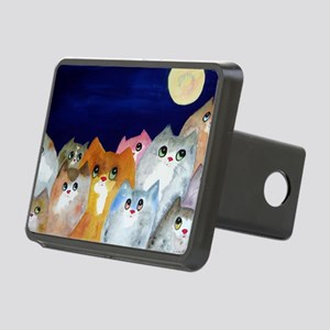 Moon Viewing Cats Rectangular Hitch Cover