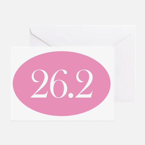 26 point 2 pink Greeting Card
