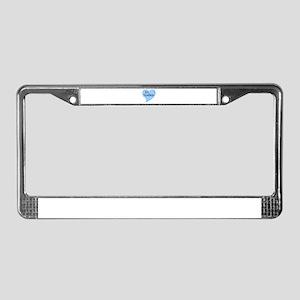 Ice Maiden Heart License Plate Frame