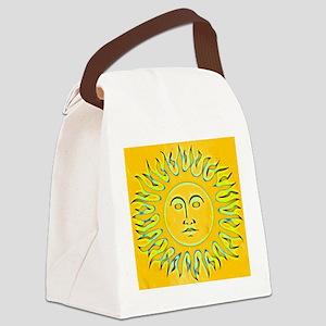 Gold Aztec sun Canvas Lunch Bag