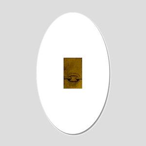 JOURNAL_ChristFreedUsFromBon 20x12 Oval Wall Decal