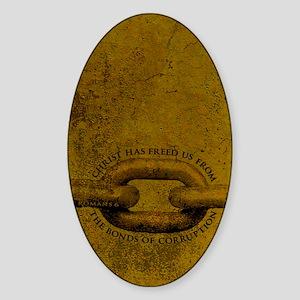 JOURNAL_ChristFreedUsFromBondage_y Sticker (Oval)