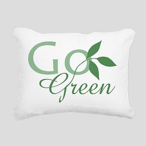 Go Green  leaf Rectangular Canvas Pillow