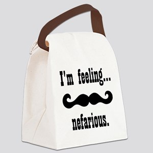 Nefarious moustache Canvas Lunch Bag