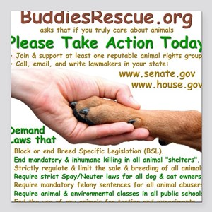 """please_take_action_today Square Car Magnet 3"""" x 3"""""""