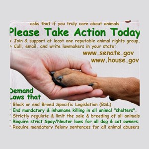 please_take_action_today Throw Blanket