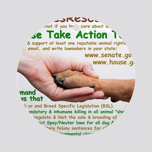 please_take_action_today Round Ornament