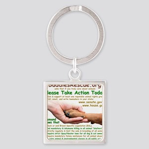 please_take_action_today Square Keychain