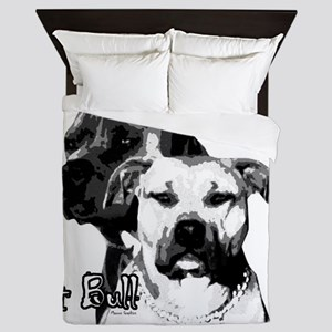 2dog head Queen Duvet